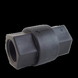 Polypropylene spring check valve