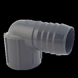PVC 90° (Barb x Ft)