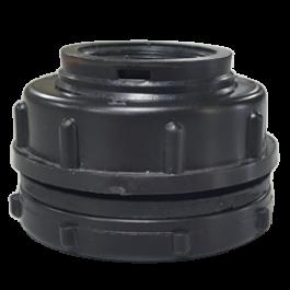Black Polyethylene Bulkhead