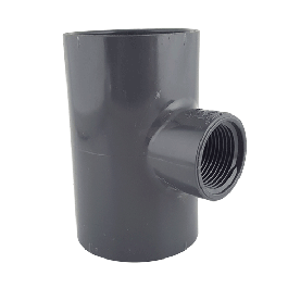 Gray PVC Reducing Tee (Socket x fnpt)