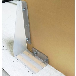 barrier bracket for sneeze guards and protective barriers