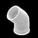 White PVC Elbow 45