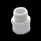 White PVC Male Adapter