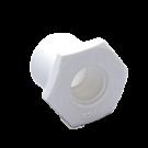 White PVC Reducer Bushing (spig x ft)