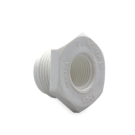 White PVC Reducer Bushing (mt x ft)